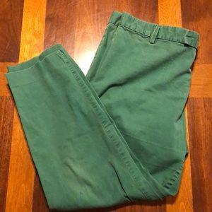 Gap slim cropped Kelly green Size 14 pants